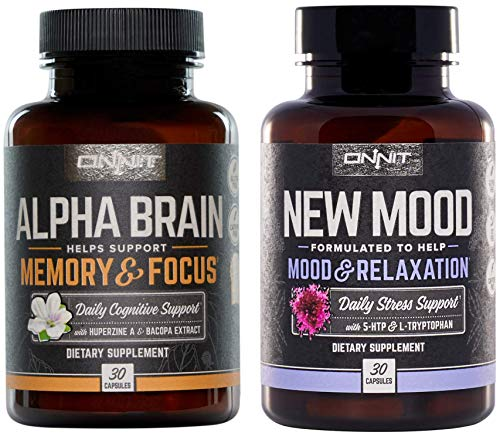 Onnit Alpha Brain - New Mood Nootropic Stack | Supports Optimal Cognitive Function and Mood (Alpha Brain Memory And Focus Side Effects)