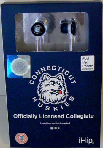 NCAA Officially Licensed Connecticut Huskies Earphones from IHip by iHip