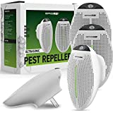 BRISON 2019 Ultrasonic Pest Repeller Plug in - Human Electronic Pet Safe Device - Eco-Friendly Electromagnetic Waves Ultrasound Control - Repellent for Mice Rats Mosquitos Spiders Rodents Insects