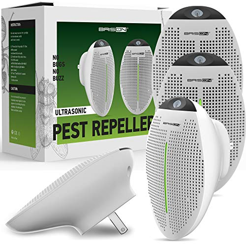 2020 Ultrasonic Pest Repeller Plug in - 4 Pack - Human Electronic Pet Safe Device - Eco-Friendly Electromagnetic Waves Ultrasound Control - Repellent for Mice Rats Mosquitos Spiders Rodents Insects