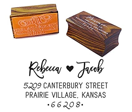 custom wedding invitation stamp personalized wood mounted rubber