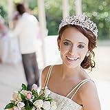 Didder Silver Crystal Tiara Crowns for Women Girls