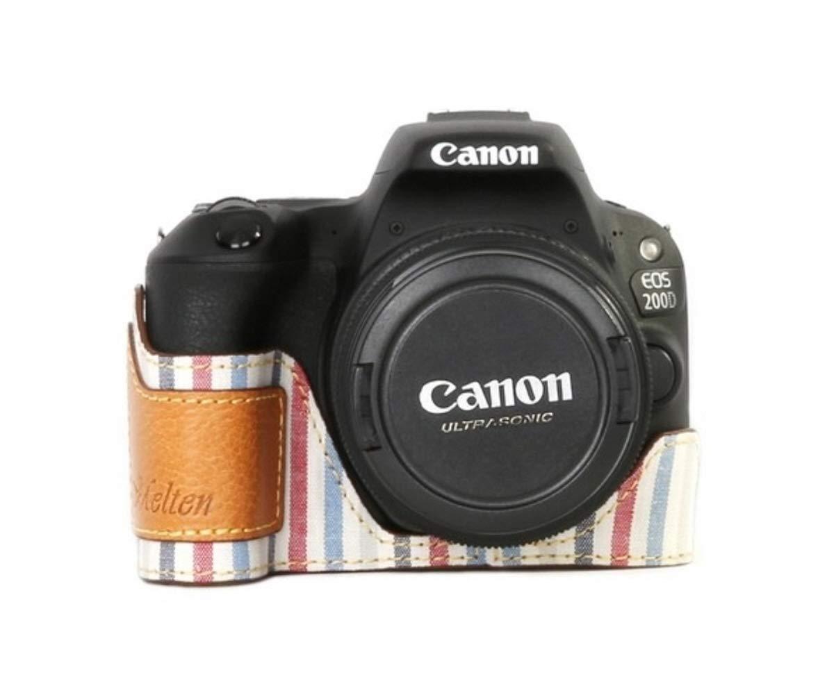 Funda de Piel para cámara Canon EOS 200D: Amazon.es: Electrónica