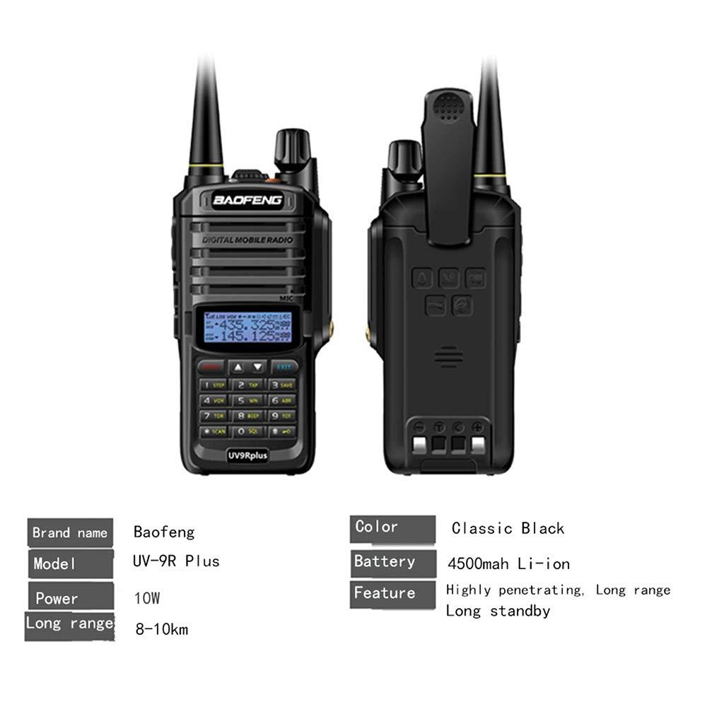 Yuly Walkie Talkie 10w for Two Way Radio Long Range 10km 4500mah Uv 9r Plus 2019 Power Upgrade Baofeng UV-9R Plus Waterproof by Yuly (Image #4)