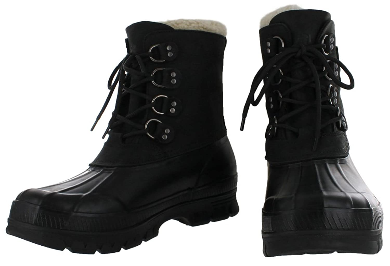 ... Amazon.com Polo Ralph Lauren Landen Mens Shearling Duck Boots Snow Boots  ... 212c5fc08