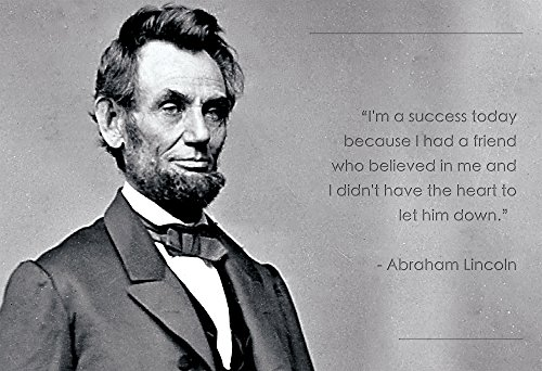 Abraham Lincoln Poster Photo Picture Framed Quote