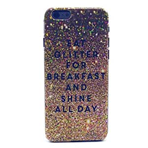 Shedding Breakfast Pattern Plastic Hard Cover for iPhone 6 Protective Smartphone Shell