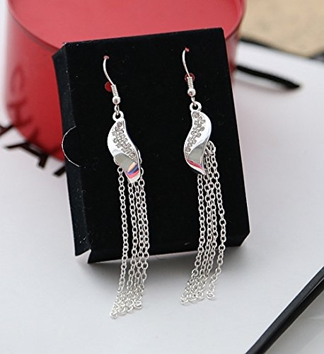 Over 59 brand sexy silver tassels long section of diamond earrings without pierced ears entrainment box 41