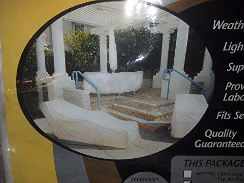 Dayva Tron-weve Medium Chimeneya Cover ~ Pearl White (Dayva Furniture Covers)