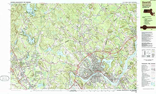 Used, YellowMaps Haverhill MA topo map, 1:25000 Scale, 7.5 for sale  Delivered anywhere in USA