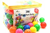 Toys : Oojami Pack of 200 Phthalate Free BPA Free Crush Proof Plastic Ball, Pit Balls - 6 Bright Colors in Reusable and Durable Storage Bag with Zipper by