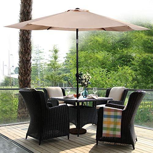 COSTWAY - Sombrilla de jardín hexónico de 300 cm de diámetro ...
