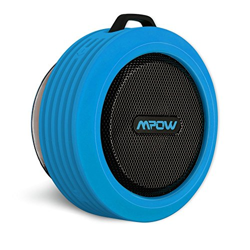 Mpow Buckler Portable Wireless Bluetooth Shower Speaker Waterproof with Mic, Hands-free Calling Function for...