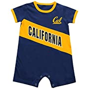 Cal Berkeley Golden Bears Infant Slant Pass Romper Onesie Outfit (6-12 M)