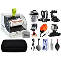 TomTom Bandit 4K HD 16MP Action Camera with Headstrap + Chest Harness + Suction Cup + Handgrip + Floaty Strap + Wrist Hand Glove + Premium Case + Mini Tripod + Dust Blower + Cleaning Kit