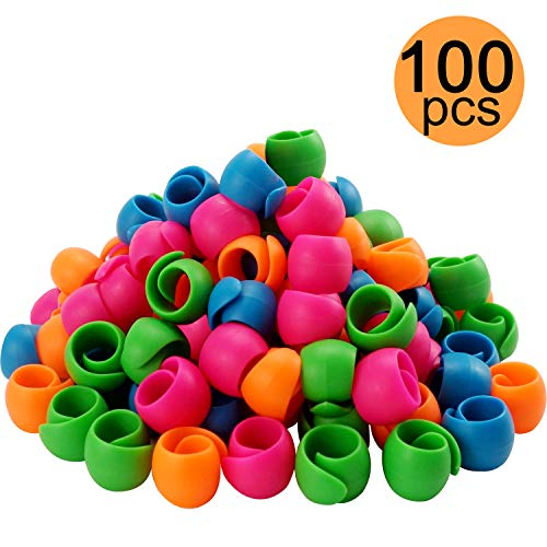 New Brothread 100pcs Thread Spool Savers/Spool Huggers - Prevent Thread Tails from Unwinding - No Loose Ends for Sewing and Embroidery Machine Thread Spools