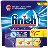 Finish Calgonit Quantum Citrus mit Glanz- & Glasschutz, Spülmaschinentabs, 45...