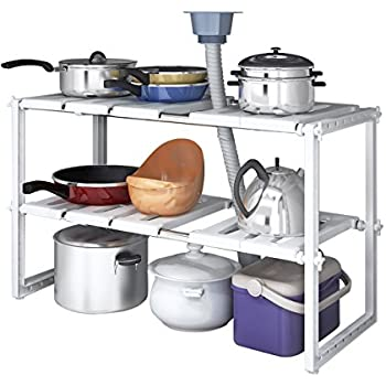 Amazon Com Decobros Under Sink 2 Tier Expandable Shelf