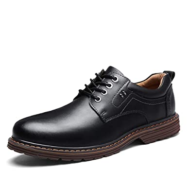 9b972fad7deb7 Amazon.com: Gobling Men's Plain-Toe Oxford Dress Shoes Casual Simple ...