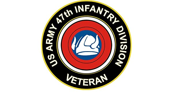 """47th Infantry Division Patch 5.5/"""" Sticker Decal"""