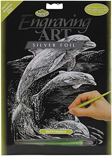 Royal & Langnickel Bulk Buy Royal Brush Silver Foil Engraving Art Kit 8 inch x 10 inch Dolphins SILF-11 (3-Pack)