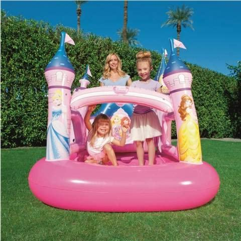 Castillo Princesas Disney hinchable 157 x 147 x 163 cm piscina ...