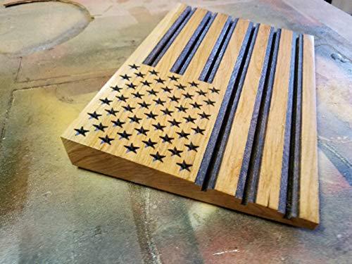 Wood American Flag - Challenge Coin Display - American Flag - US Flag - Customization - Personalized