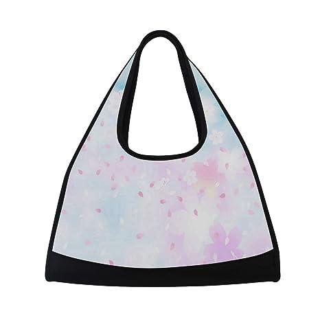 c4ae55ac9135 Amazon.com: Falling Cherry Blossoms Sports Shoulder Bag Shopping ...