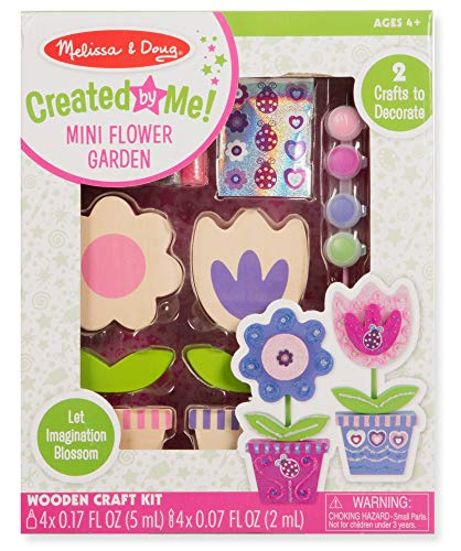 Melissa & Doug Created by Me! Wooden Flower Garden Set