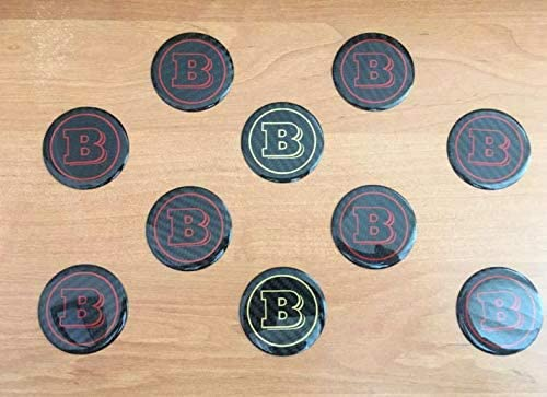 Carbon Fiber Steering Wheel Badge Brabus AMG Mansory Styles Logo Emblem Star Logo Replacement for Mercedes-Benz Vehicles 1 Piece