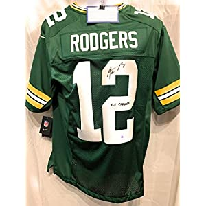 Aaron Rodgers Green Bay Packers Signed Autograph Nike Embroidered Game Jersey SUPER BOWL XLV CHAMPS INSCRIBED Steiner Sports Certified