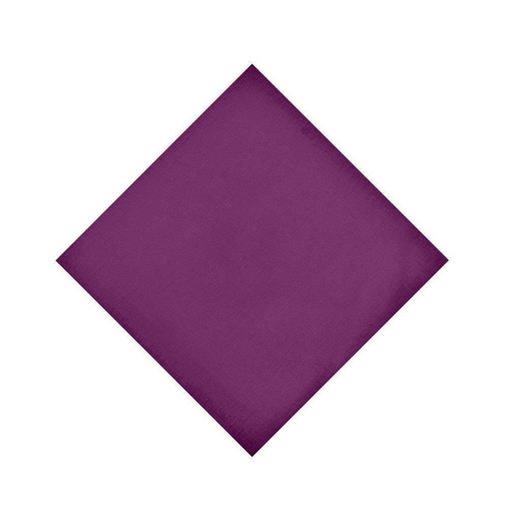 Alotpower Solid Color Bandana Handkerchiefs Cotton Cowboy Bandanas Headband,Deep Purple