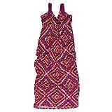 Design History Ladies' V-Neck Maxi Dress (S, Grape Poppy)