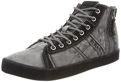 REPLAY Everet Collo Uomo Sneaker Everet Alto Black Nero REPLAY a dxTr1wxX