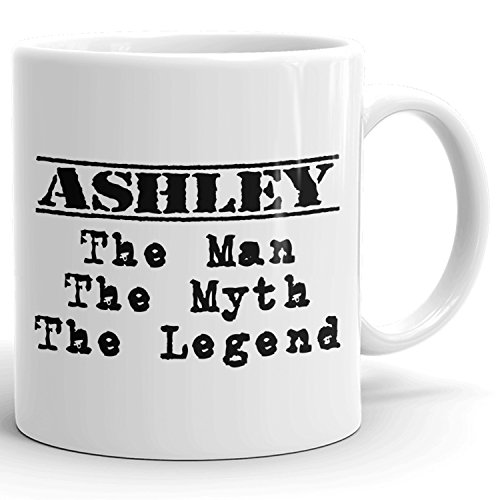 Best Personalized Mens Gift! The Man the Myth the Legend - Coffee Mug Cup for Dad Boyfriend Husband Grandpa Brother in the Morning or the Office - A Set 3