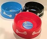 3 dog bowl set - TBC HOME DECOR Round Plastic Pet Bowls - 9 3/4 inch - 3 color set