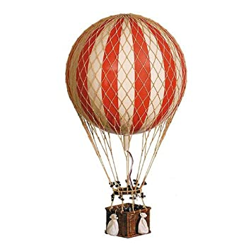 Xl Jules Verne Red 17 Quot Hot Air Balloon Authentic Models Hanging Aviation Decor