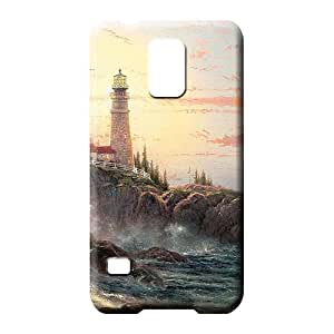 samsung galaxy s5 phone carrying cases Style Classic shell pictures lighthouse by thomas kinkade