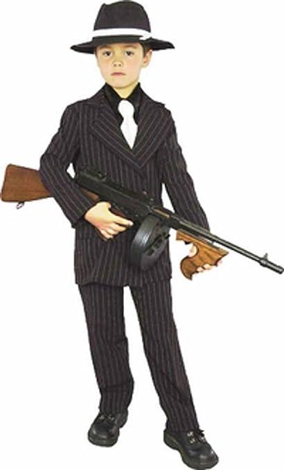 Amazon.com: Kid s Mafia Gangster Boy Costume (Tamaño: Med 8 ...