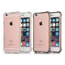 [2Pack] iPhone 6S Plus Case iPhone 6 Plus Case, CaseHQ Transparent Clear Enhanced Grip Protective Defender cover Soft TPU Shell Shock-Absorption Bumper Anti-Scratch Clear Back Air Cushioned 4 Corners