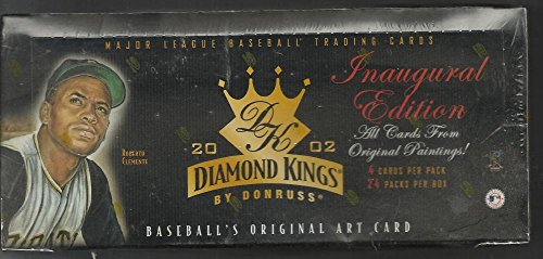 2002 DONRUSS DIAMOND KINGS BASEBALL FACTORY SEALED HOBBY BOX - VERY HARD TO FIND