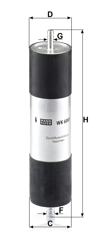 Para autom/óviles MANN-FILTER Original Filtro de Combustible WK 6001
