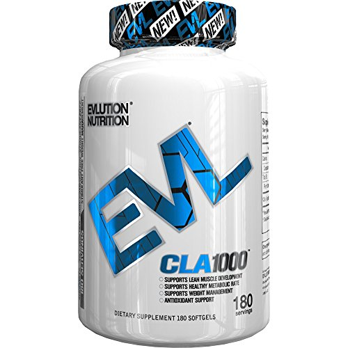 Evlution-Nutrition-CLA1000-Conjugated-linoleic-acid-180-Serving-Soft-Gels-Exercise-Enhancement-Weight-Loss-Supplement-Stimulant-Free