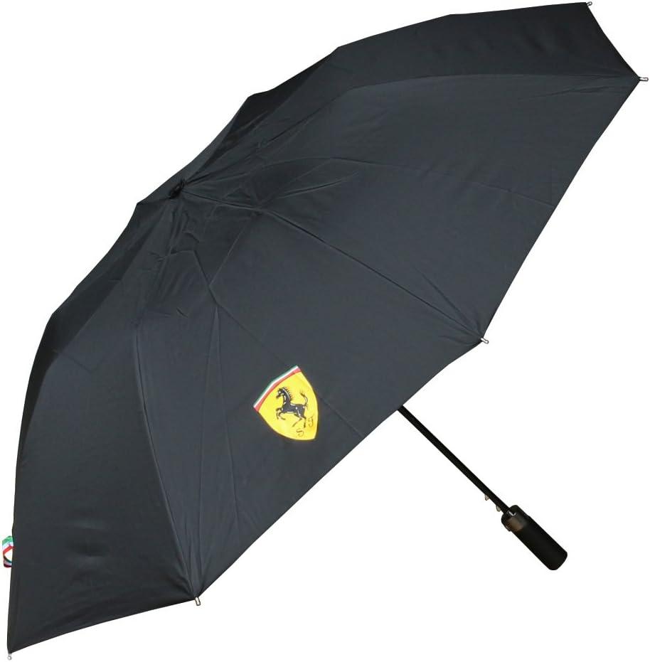 Paraguas Compacto Scuderia Ferrari Oficial Negro: Amazon.es ...