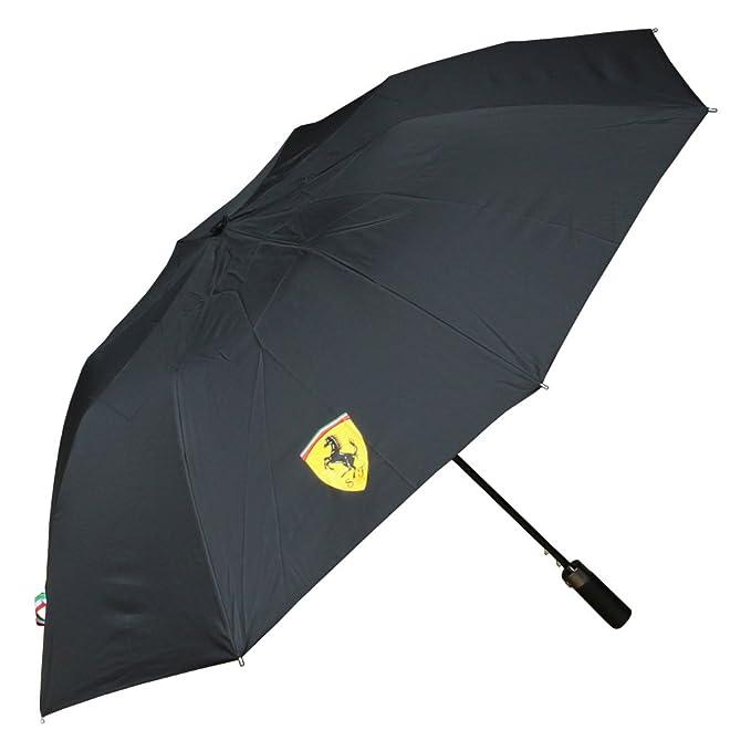Paraguas Compacto Scuderia Ferrari Oficial Negro: Amazon.es: Deportes y aire libre
