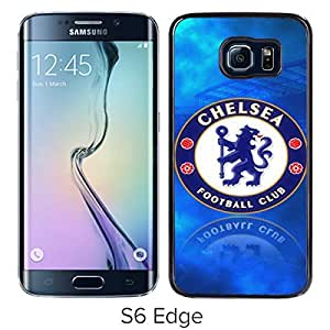 Chelsea Black Samsung Galaxy S6 Edge Screen Cover Case Luxurious and Fashion Design