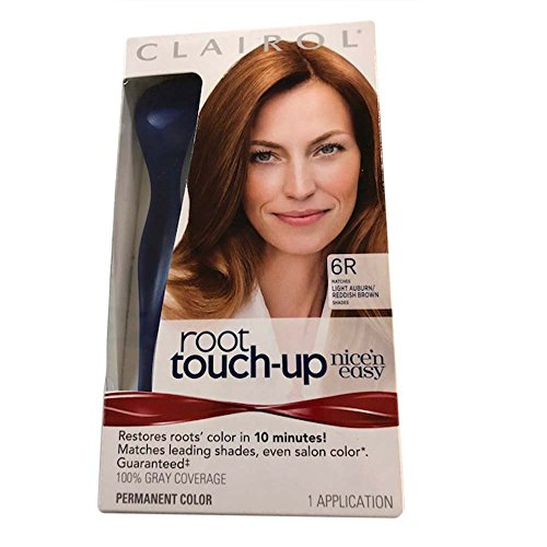 Clairol Nice 'n Easy Root Touch-Up 6R Kit (Pack of 2), Matches Light Auburn/ Reddish Brown Shades of Hair Color, Superior Grey - Mix Color Brown