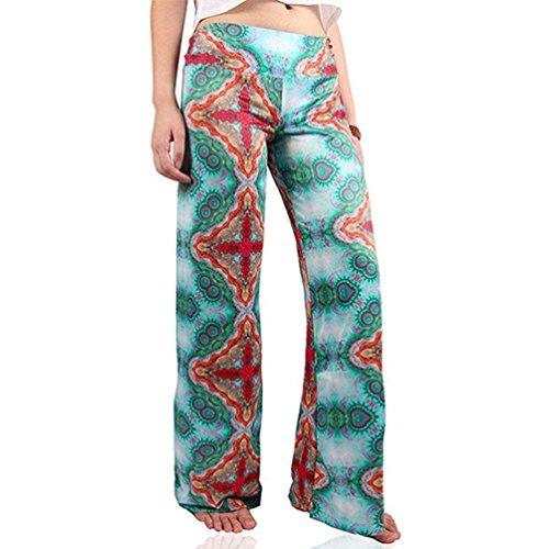 Donna Allentato Ragazza Baggy Accogliente Estivi Pants Eleganti Libero Stampate Chic Abbigliamento Tempo Colour Vintage Larghi Pantalone 6 Pantaloni Fashion pRHqrp8