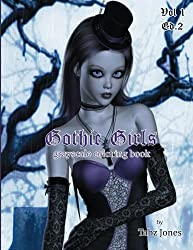 Gothic Girls Grayscale Coloring Book (Volume 1)