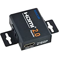 SOUCOR HDMI 2.0 Repeater 4K/60hz 4k/30hz 1080p 3D Signal Amplifier Booster Adapter Extender Up to 60m/200ft Transmission Distance 18Gbps Bandwidth - Metal Case